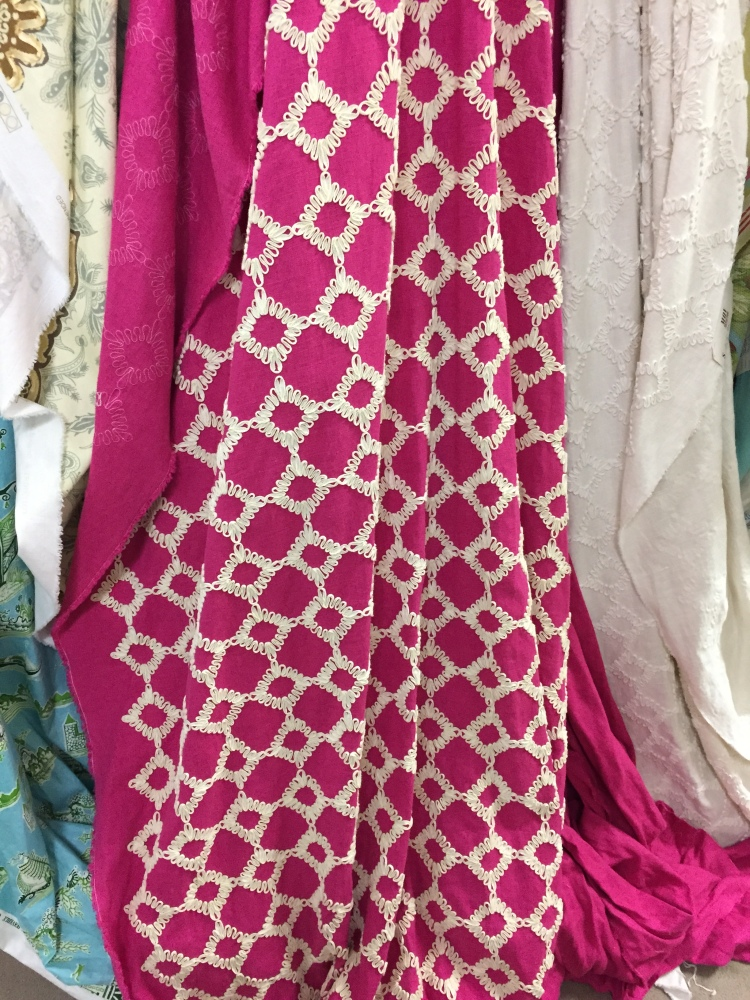 Cheery magenta embroidery number...