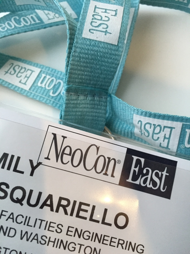 Hit up NeoCon East today.... Not nearly as glamorous as Chicago, but it will do.